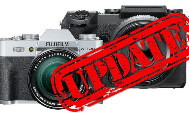 Ankündigung von Fujifilm: Umfangreiche Firmware-Updates für X-T20 und GFX 50S