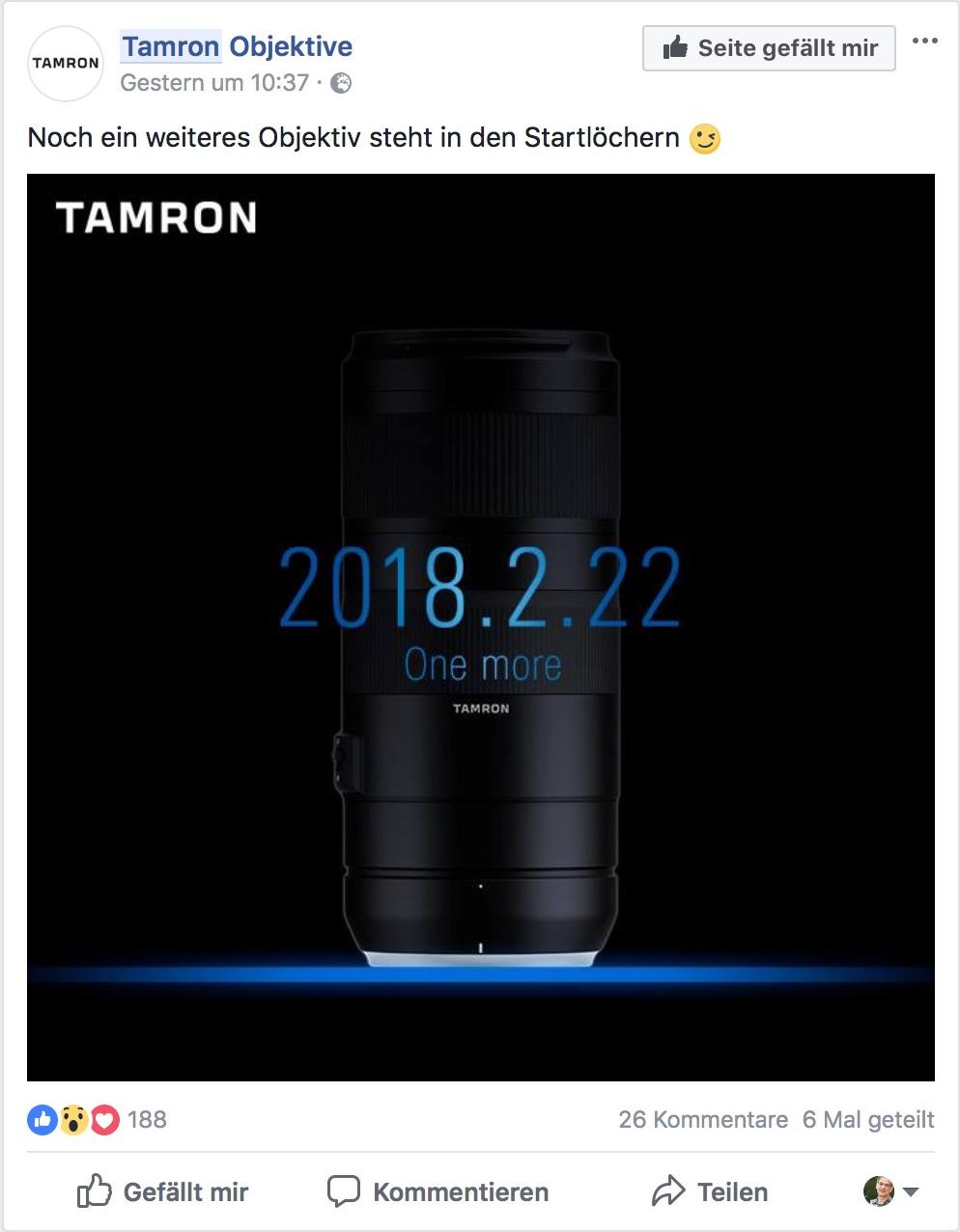 Tamron Facebook