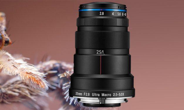 Neu von Venus Optics: Lupenobjektiv Laowa 25mm f/2.8 2.5-5X Ultra Macro