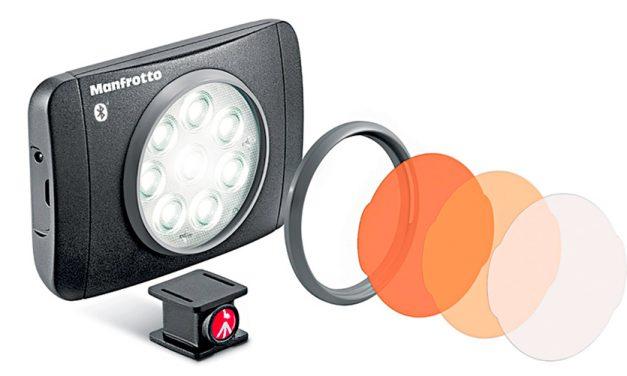 Manfrotto präsentiert LED-Leuchte Lumimuse 8 BT speziell für Smartphone-Videos