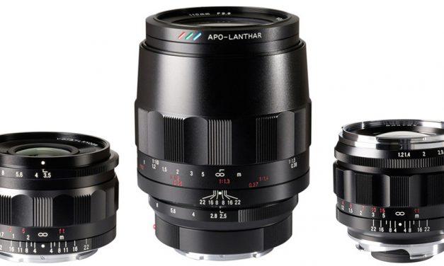 Gesichtet: Voigtländer Macro APO Lanthar 110mm f/2.5, Color-Skopar 21mm f/3.5 Asph für Sony E; Nokton 50mm f/1.2 Asph VM (Leica M)