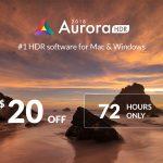 Aurora HDR noch bis Montagnacht mit sattem Rabatt