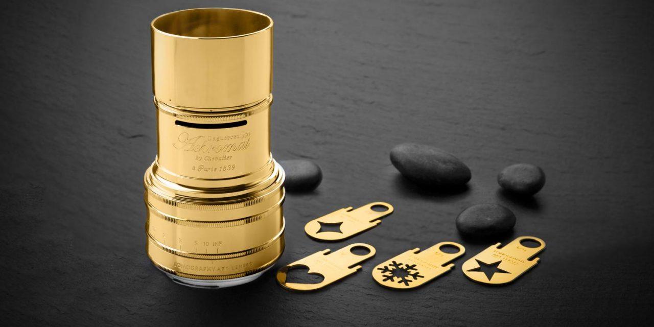Daguerreotype Achromat 2.9/64 Art-Lens von Lomography jetzt mit Goldauflage