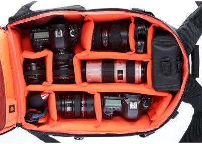Fotoliner Kamerarucksack L innen