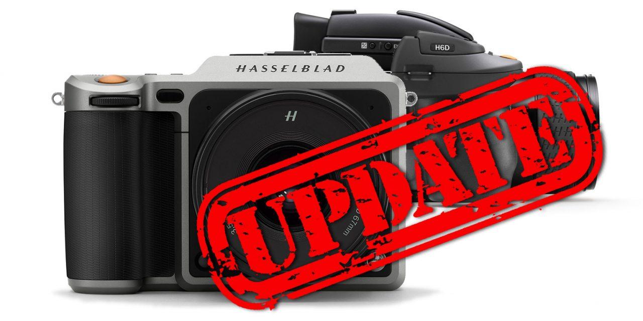 Für Hasselblad X1D und H6D: Firmware 1.21 veröffentlicht