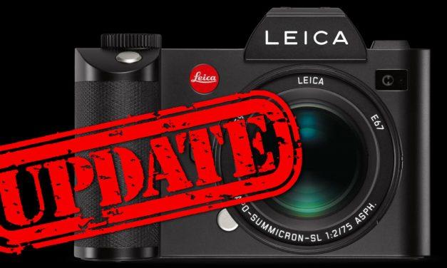 Leica SL (Typ 601): Firmware 3.2 veröffentlicht