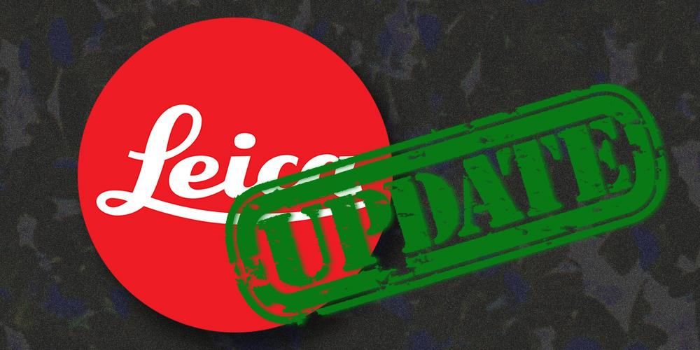 Leica verbessert fünf Kameras per Firmware-Update