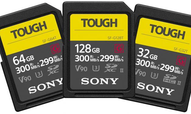 Sony SD-Karten der SF-G-Serie: UHS-II und wasserdicht