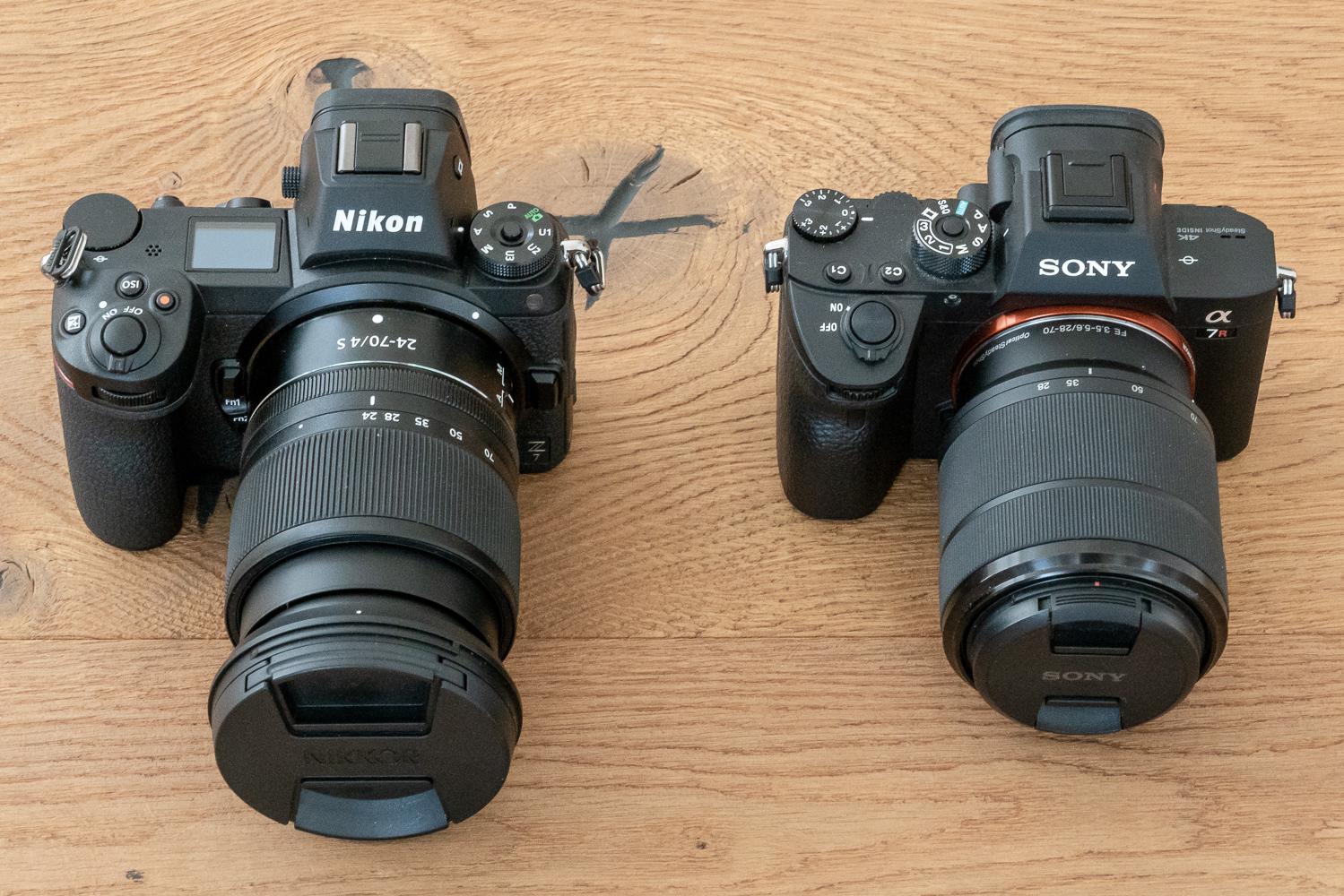 Nikon Z7 und Sony Alpha 7R III