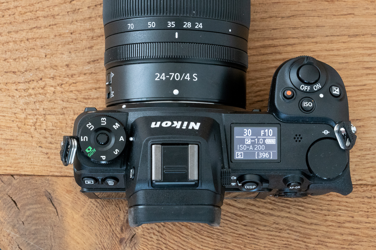 Nikon Z7 von oben