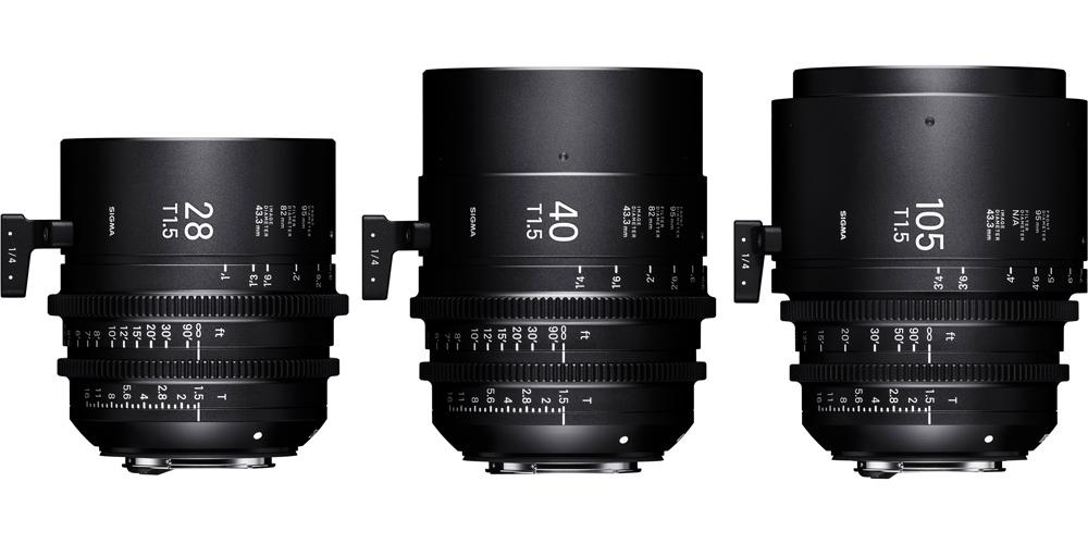 Sigma bringt Cine-Objektive 28mm T1.5, 40mm T1.5 und 105mm T1.5