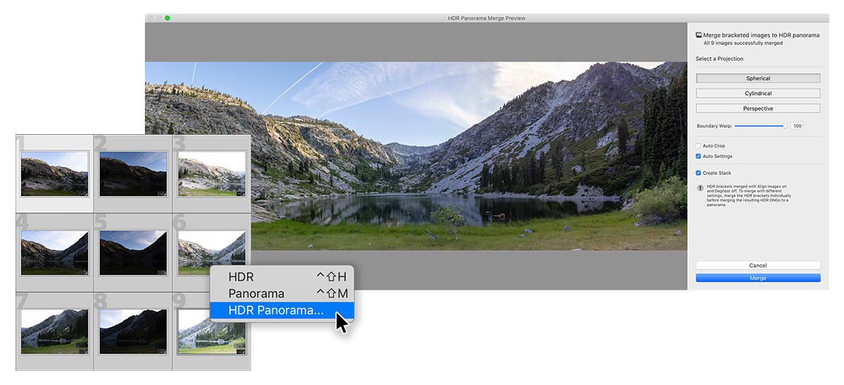 LrClassic_HDR Panorama Merge