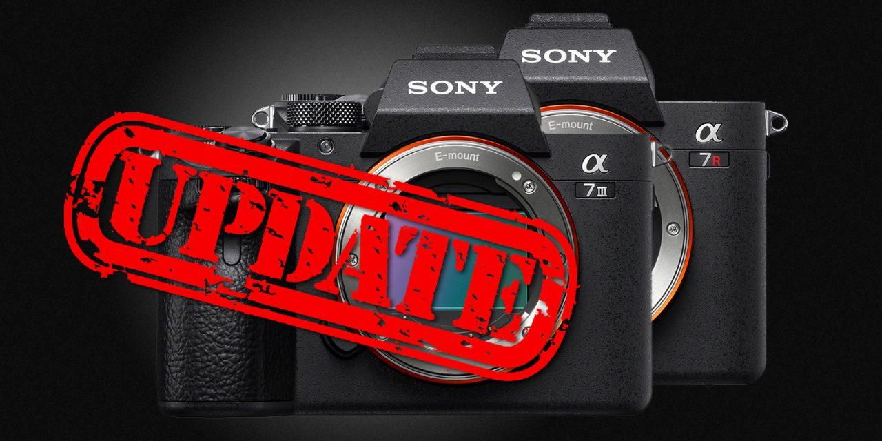 Sony veröffentlicht Firmware-Updates für Alpha 7R III, Alpha 7 III und Alpha 9