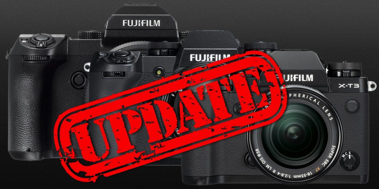 Fujifilm kündigt umfangreiche Firmware-Updates für GFX 50S, X-T3 und X-H1 an