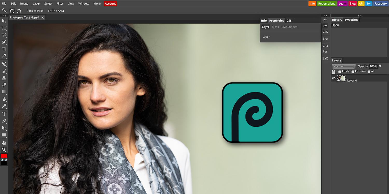 Photopea Photoshop Klon, der im Browser läuft   photoscala