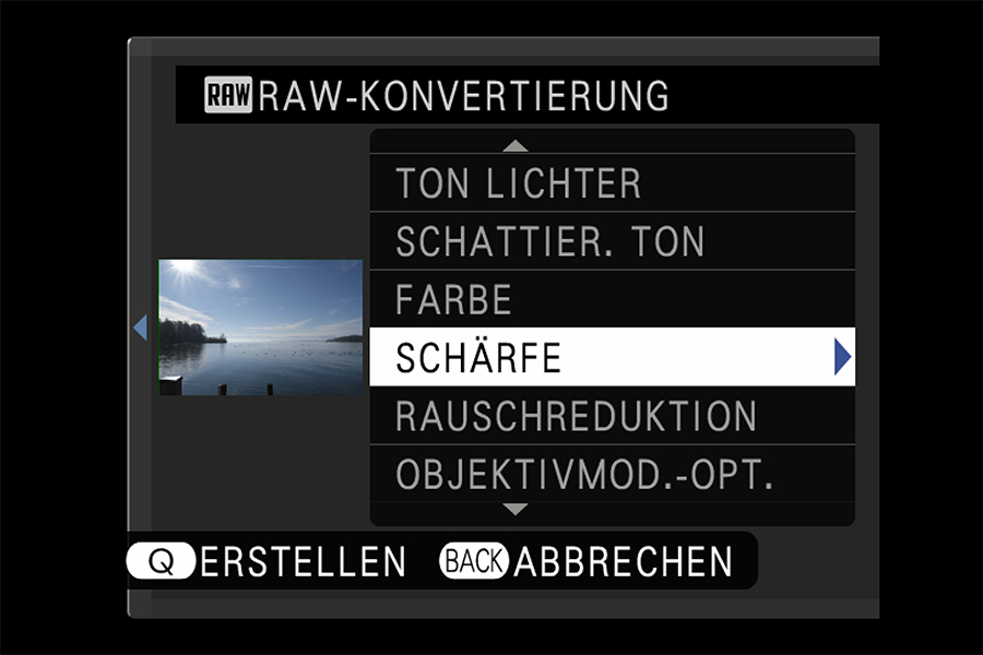 X-T3 RAW-Entwicklung