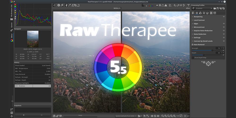 Gratis RAW-Konverter: RawTherapee 5.5 veröffentlicht