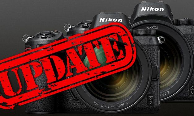 Für Nikon Z7 und Z6: umfangreiche Firmware-Updates veröffentlicht