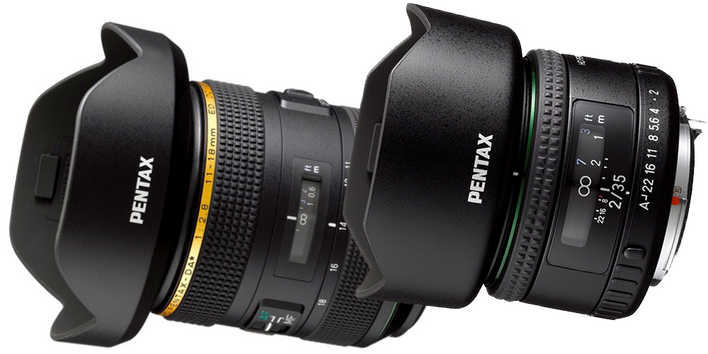 Neu von Pentax: Ultraweitwinkel-Zoom DA* 11-18 mm F2,8 ED DC AW und Reportageobjektiv FA 35 mm F2 AL