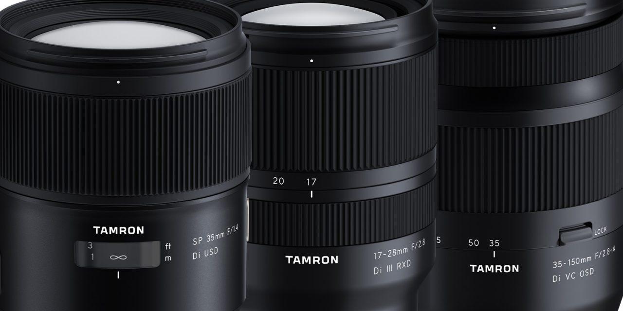 Für Sony E und Nikon-/Canon-DSLR: Tamron kündigt drei Objektive an