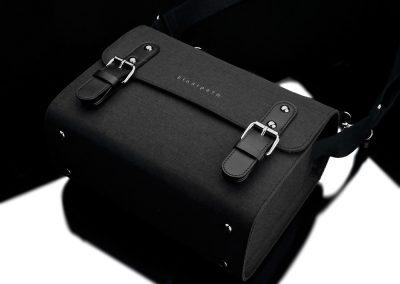 Gariz Canvas Fototasche schwarz M - liegend