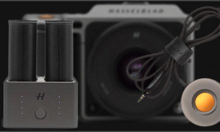 Für Hasselblad X1D: Kabelauslöser und Doppellader für Akku