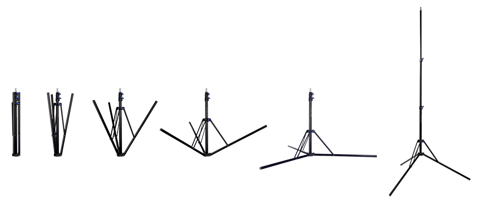 Hensel Alu Stand 220: Lampenstativ mit besonders kleinem Packmaß