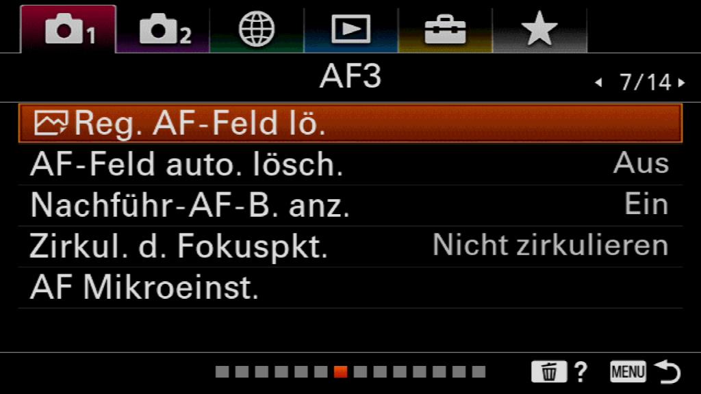 AF-Konfiguration