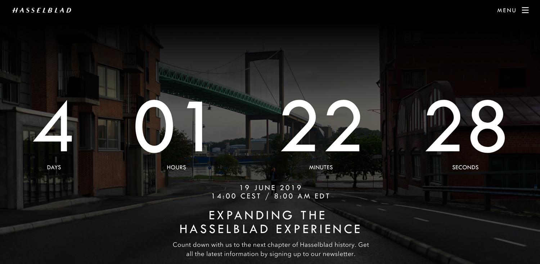 Hasselblad-Countdown