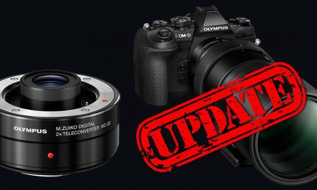 Olympus: Verkauf des 2-fach-Telekonverter MC-20 startet – Firmware 3.0 für OM-D E-M1 Mark II