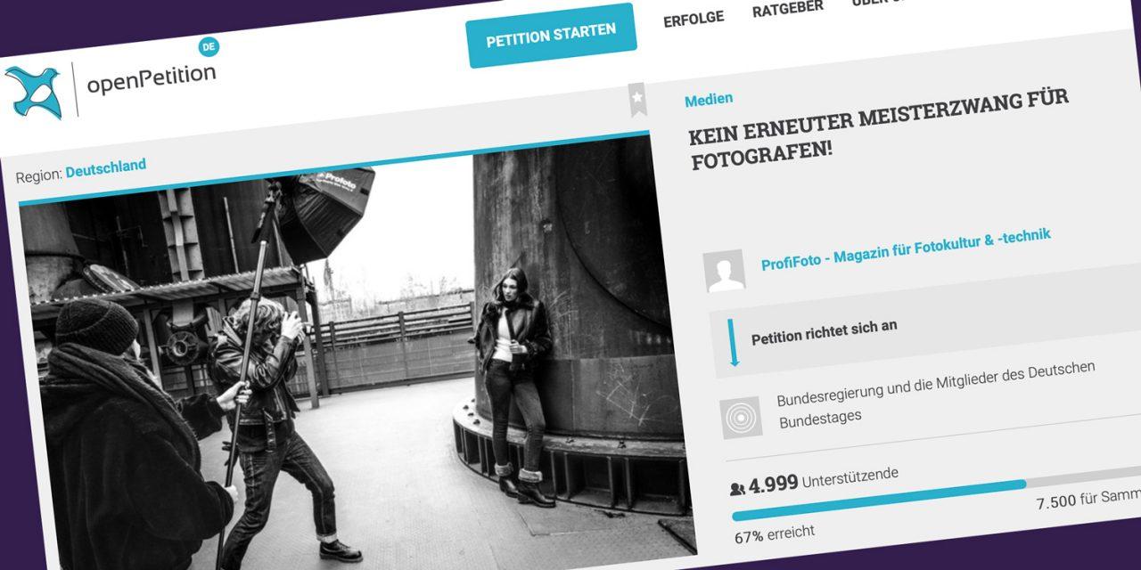 Petition gegen erneuten Meisterzwang für Fotografen gestartet