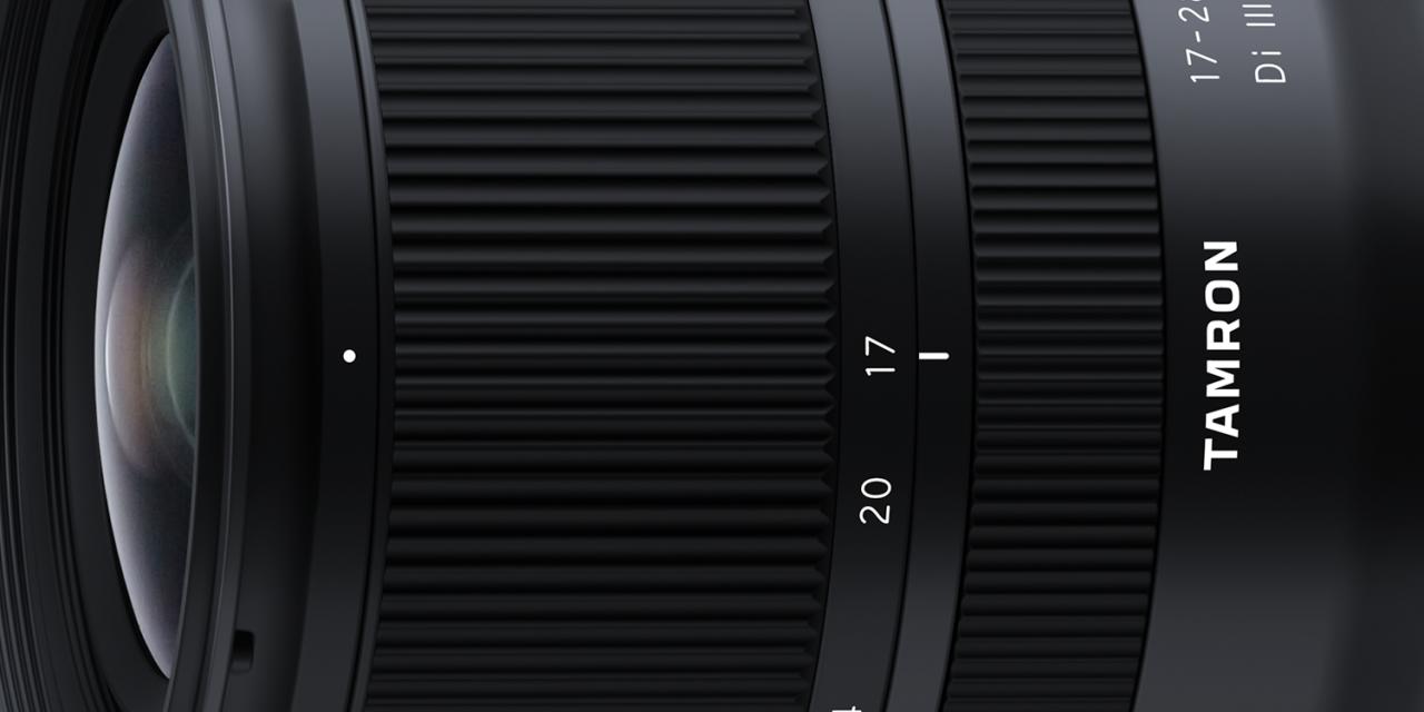 Tamron präsentiert Weitwinkel-Zoom 17-28mm F/2.8 Di III RXD für Sony E