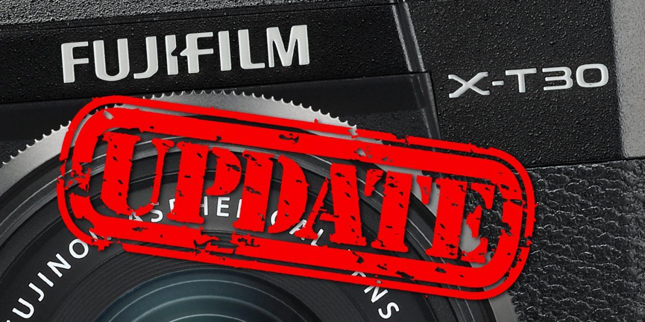 Fujifilm X-T30: Firmware-Update verbessert Verhalten der Q-Taste