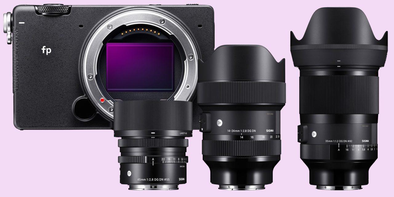 L-Mount-Offensive von Sigma: drei neue Objektive und Kleinbildspiegellose Sigma fp vorgestellt