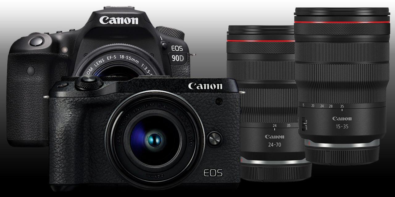 Canon-Neuheiten: DSLR EOS 90D, Spiegellose EOS M6 II, RF-Objektive 15-35mm F2.8L IS USM und 24-70mm F2.8L IS USM