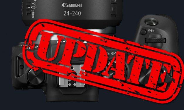 Für Canon EOS R und EOS RP: Firmware-Update veröffentlicht