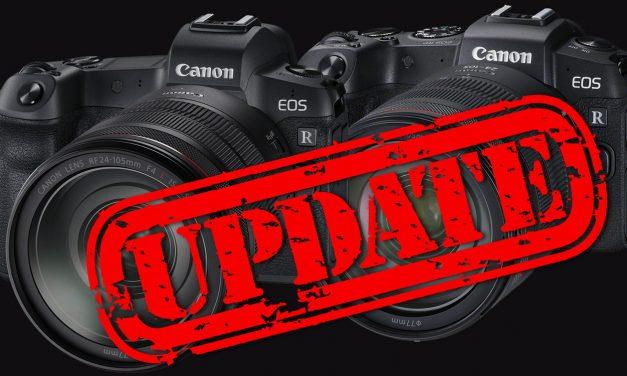 Canon veröffentlicht Firmware-Update für EOS R und EOS RP