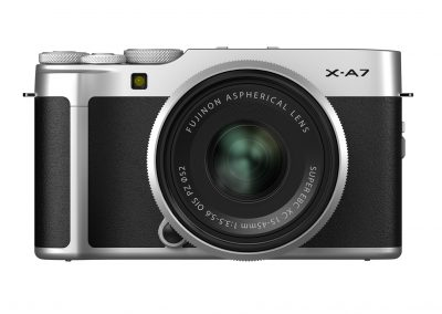FUJIFILM_X-A7_silver_front_Lens