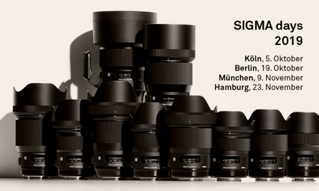Sigma Days 2019 mit Workshops, Touch & Try und Live Shootings