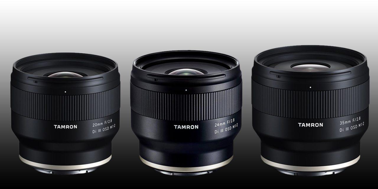 Tamron für Sony E: 20mm F/2.8, 24mm F/2.8 und 35mm F/2.8 vorgestellt