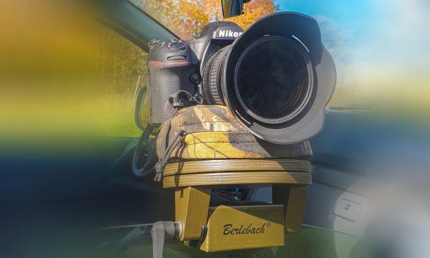 Berlebach präsentiert Autoscheibenstativ mit Bohnensack