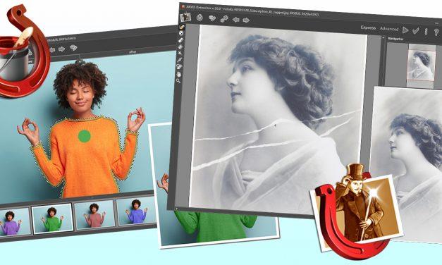 Akvis Retoucher 10.0 und Coloriage 12.5 reparieren und restaurieren alte Fotos