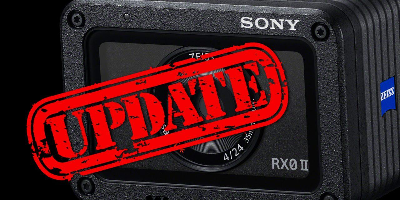 Sony RX0 II: Firmware 2.0 veröffentlicht