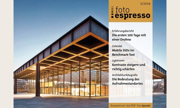 Gratismagazin fotoespresso 5/2019 ab sofort zum Download bereit