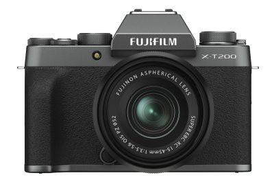 FUJIFILM X-T200_frontLens_Dsilver