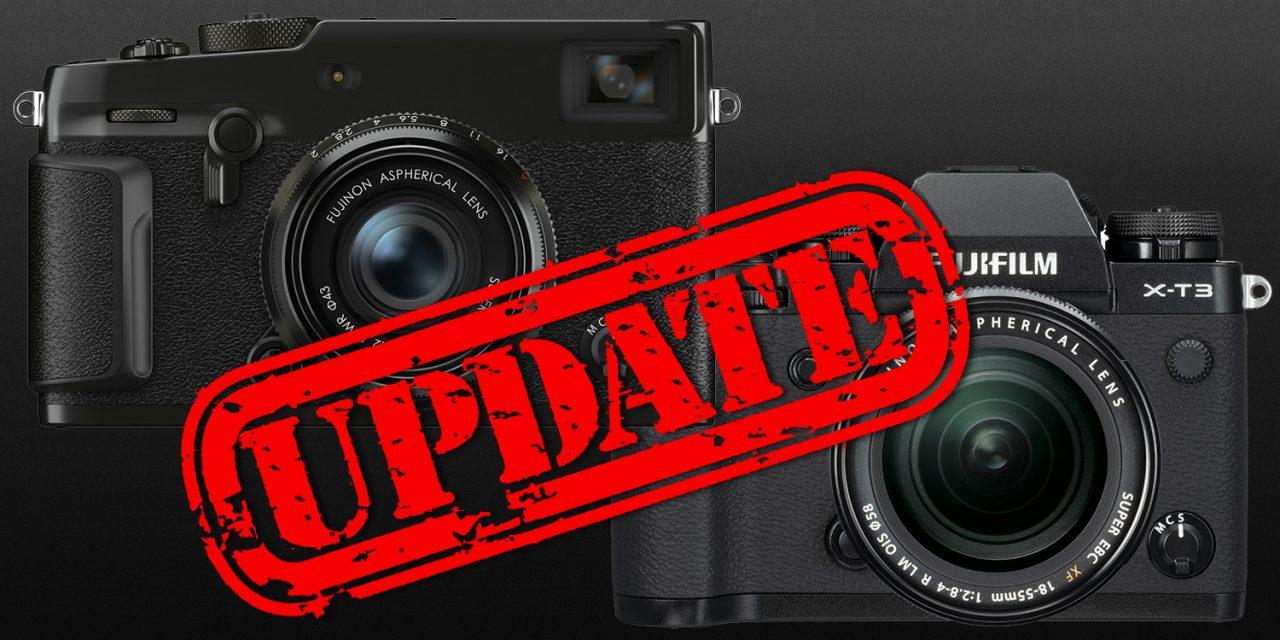 Fujifilm veröffentlicht Firmware-Updates für X-T3 und X-Pro3