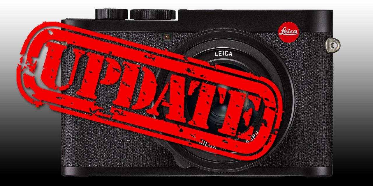 Leica verbessert Q2 mit umfangreichem Firmware-Update