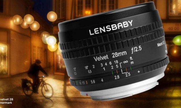 Neu von Lensbaby: Velvet 28mm F/2.5 mit speziellem Bokeh