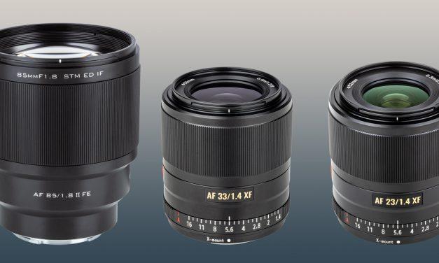 Für Sony E und Fuji X: Drei Festbrennweiten mit Autofokus von Viltrox