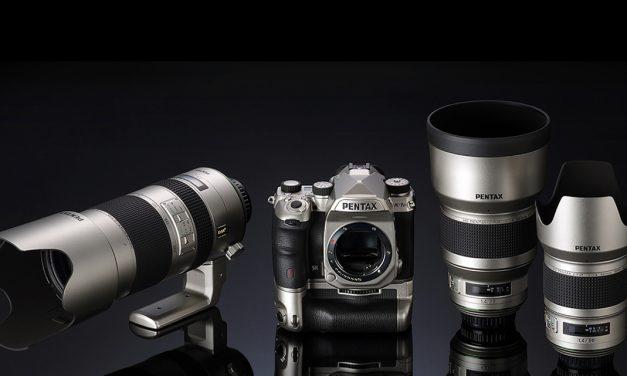 Limitierte Sonderedition: Pentax K-1 Mark II und drei Objektive in Silber